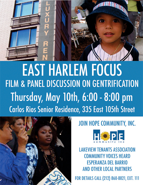 East Harlem Focus Flyer